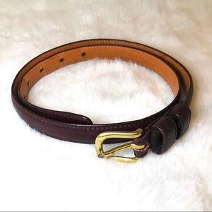Vintage Coach Leather Belt Deep Plum Color 28